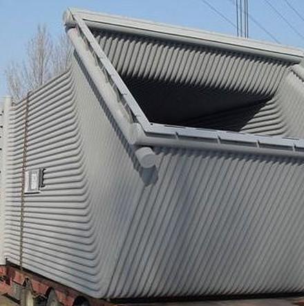 Wyparkowe chłodzenie odciąganych gazów 2 pieców elektrycznych łukowych w Hucie BMZ Zhlobin Byleorusian Steel Works