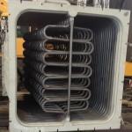 Kocioł odzysknicowy na odciągu spalin z pieca 140 ton w walcowni prętów Huty CMC Zawiercie