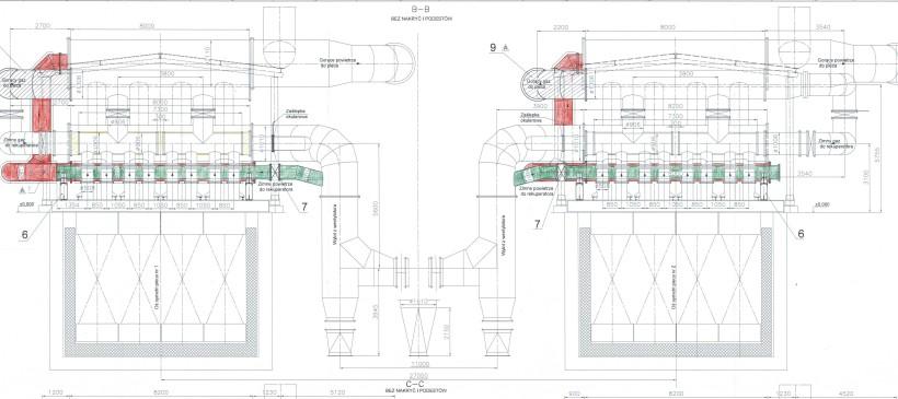 Dostosowanie rekuperatorów 2 pieców pokrocznych walcowni średniej Huty ArcelorMittal Poland S.A. w Dąbrowie Górniczej do zasilania pieców gazem mieszanym