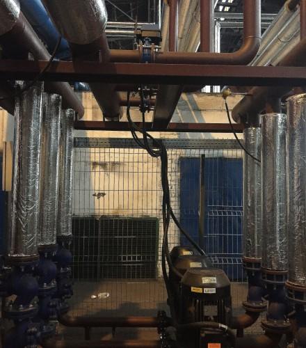 Kompleksowe wykonanie odzysku ciepła ze spalin pieca obrotowego z rozprowadzeniem ciepła i instalacjami c.o. w budynku administracyjnym Walcowni Huty HSJ Stalowa Wola S.A.