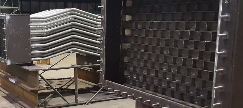 Modernizacja III sekcji rekuperatora spalin pieca grzewczego Walcowni w Hucie Łabędy S.A.